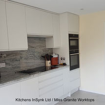 kitchens insynk kitchen installation remo porcelain matt doors crystal blue granite