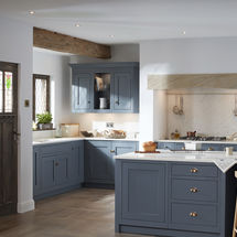 1909 Shaker doors in Storm Blue at Kitchens InSynk ltd, Solihull