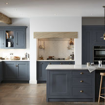 1909 shaker door in storm blue at kitchens insynk ltd solihull