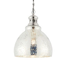 Vaso E27 pendant with domed mercury glass shade (fitting only)