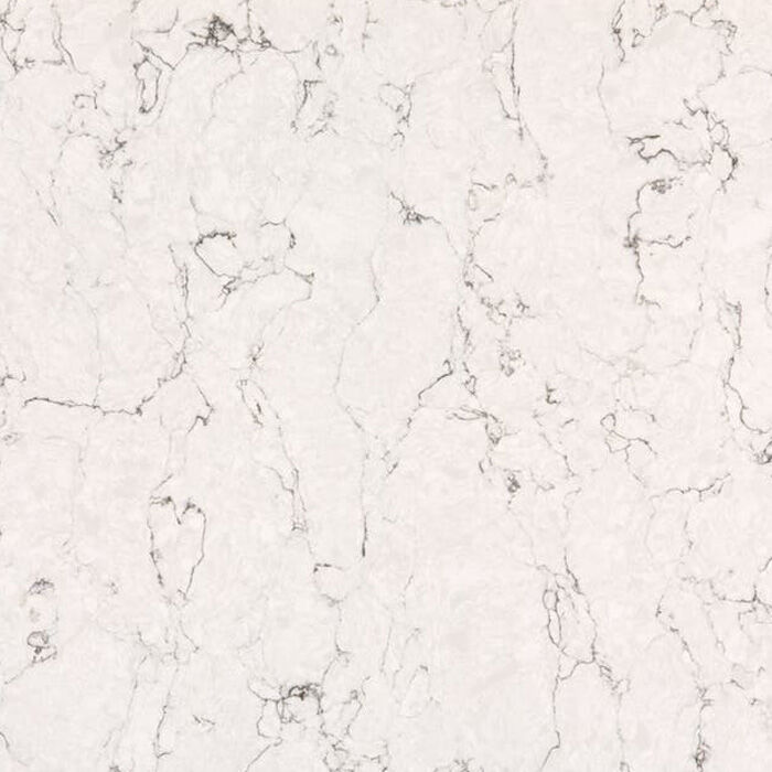 White Arabesque quartz by silestone, cosentino polished finish