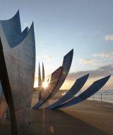 Setting Sun on Omaha Beach