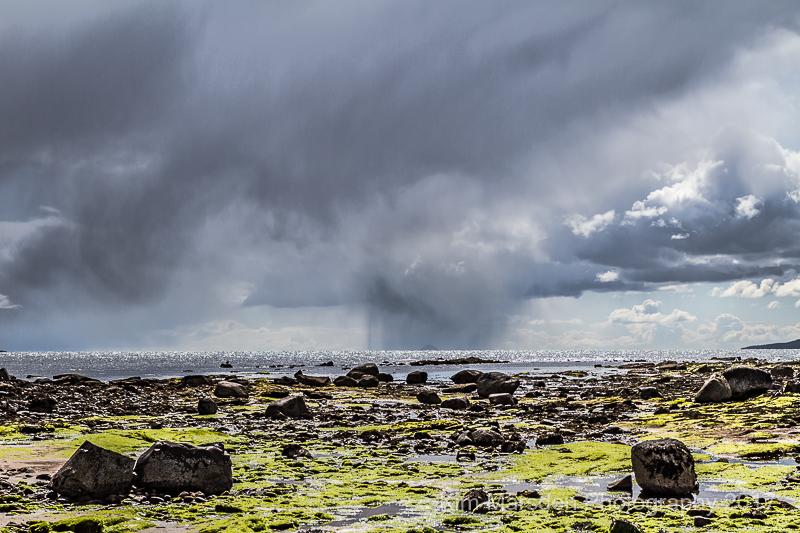 Stormy skies looking towards Ailsa Craig