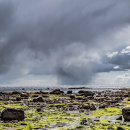 Stormy skies looking towards Ailsa Craig