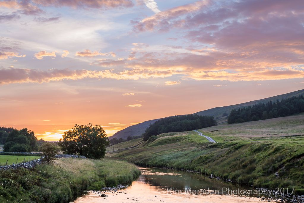 Sunset over River Skirfare