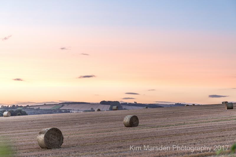 Beautiful colours during a Yorkshire Wolds sunset