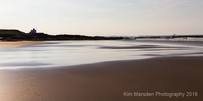 Late evening light on Bamburgh beach