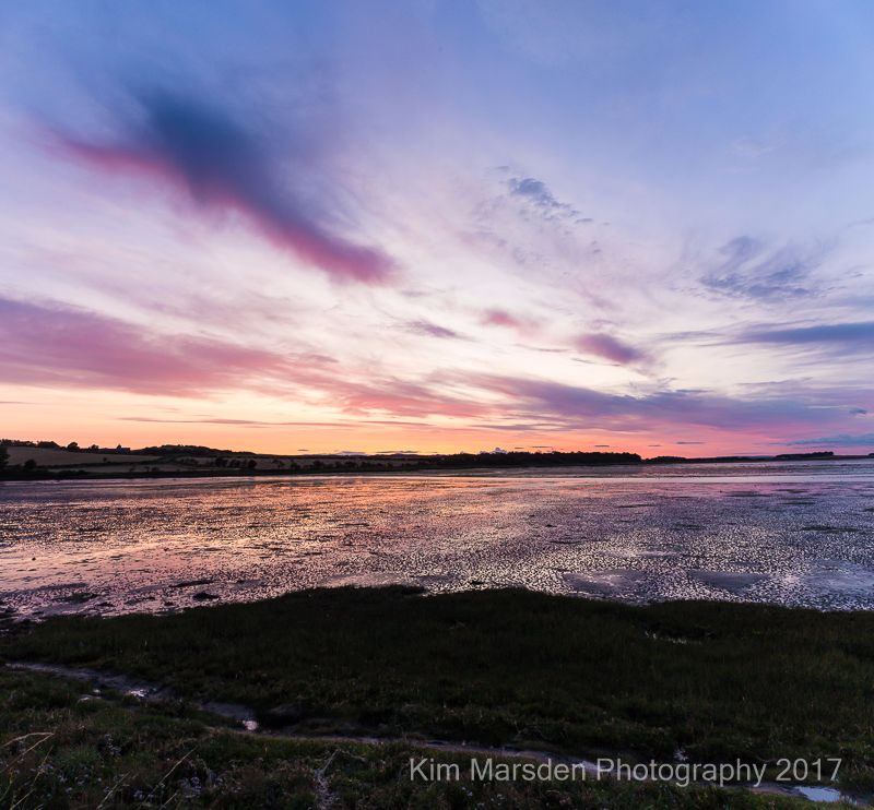 Budle Bay sunset Panorama
