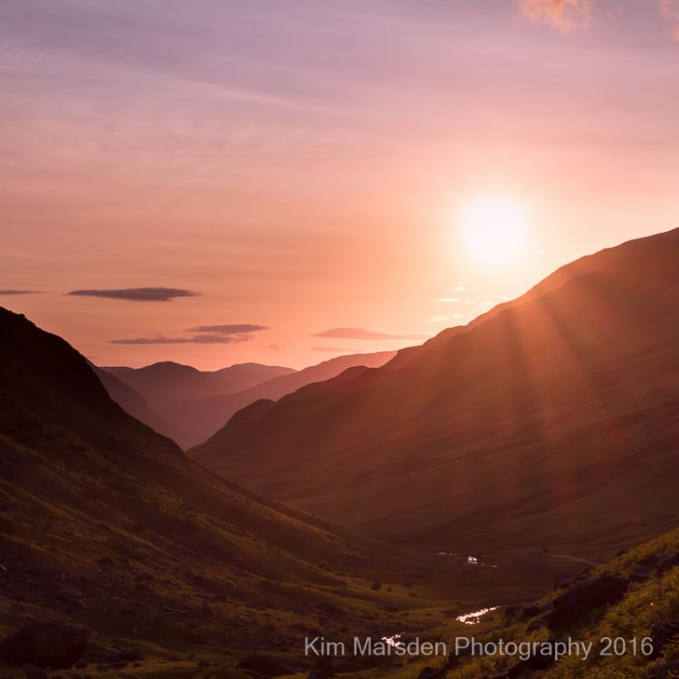 Sunsetting over Honister Pass