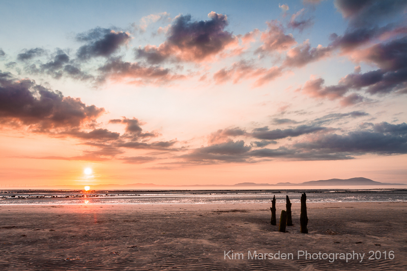 Sunset over the Solway Firth - Allonby Bay