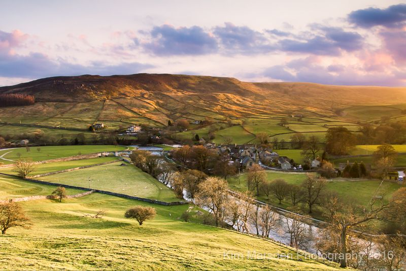 Late evening light over Burnsall