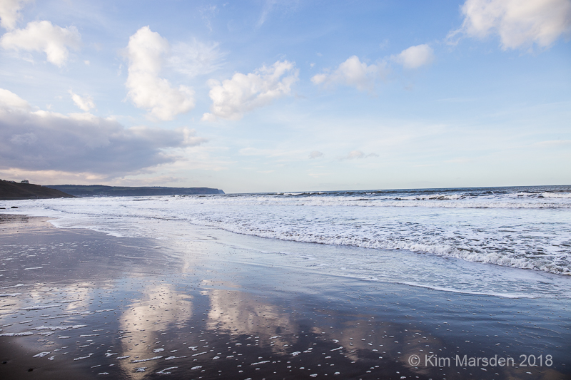 Reflections on Whitby beach
