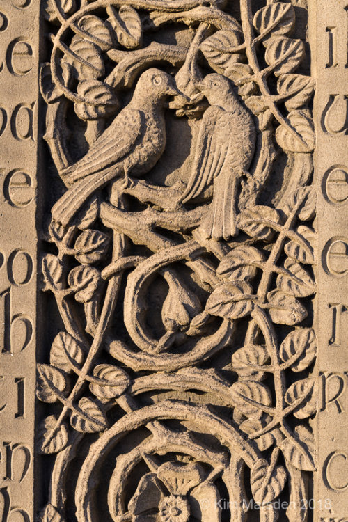 Caedmon's Cross, St Mary's Church,  detail - Whitby