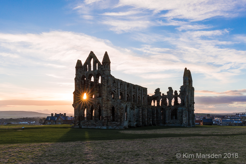 Sunset over Whitby Abbey
