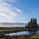 Whitby Abbey in late evening light