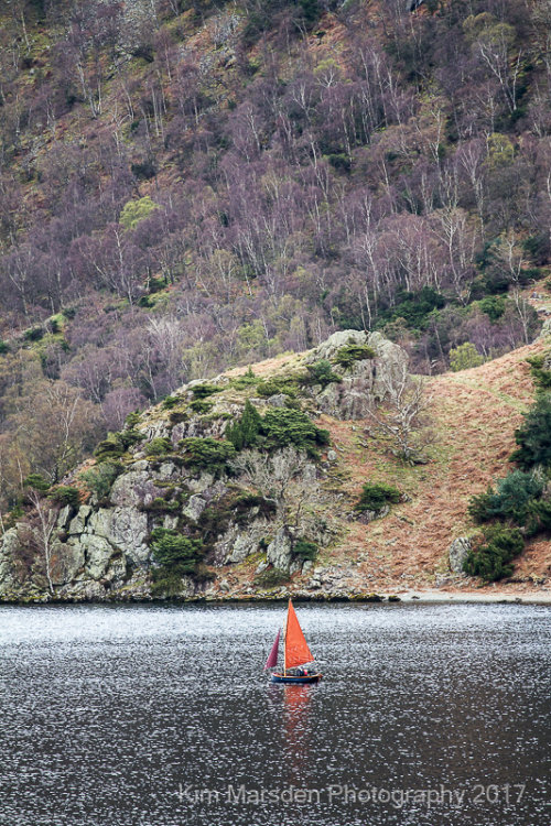 Red Sail on sparkling Ullswater