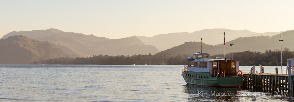Sunset over Ullswater Steamer