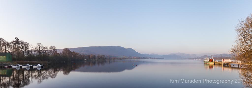 Dawn light over Ullswater Steamer