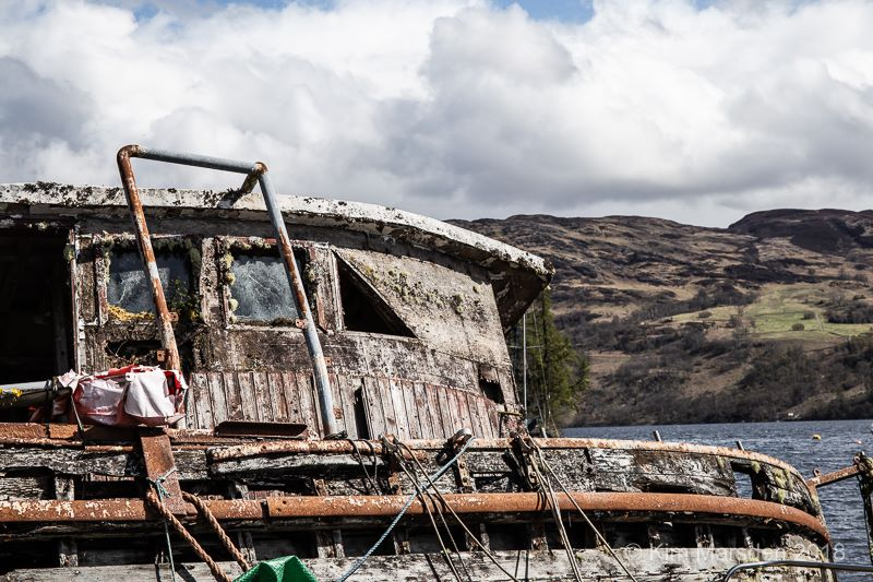 Old wreck - Loch Ness