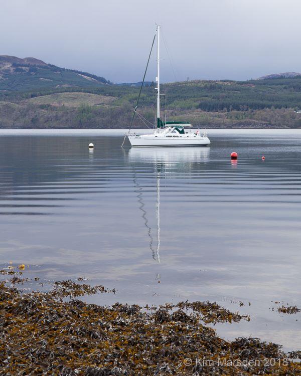 Boat on a calm Loch Fyne
