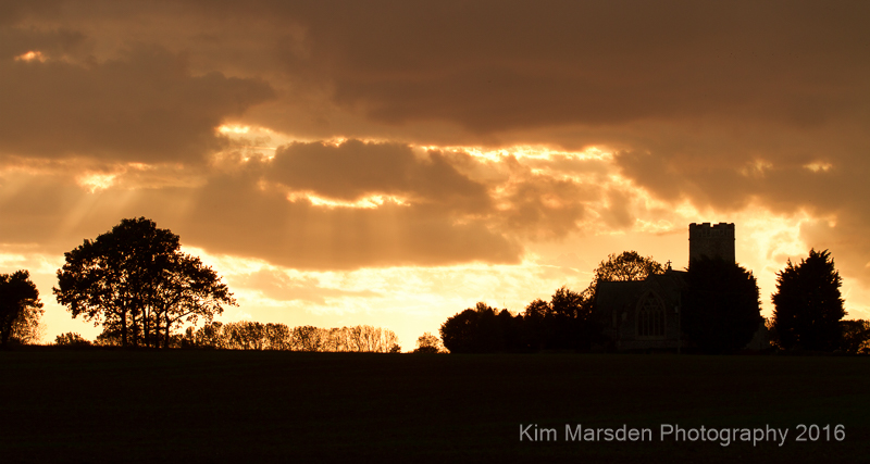 Sunset over Haveringland Parish Church, Norfolk