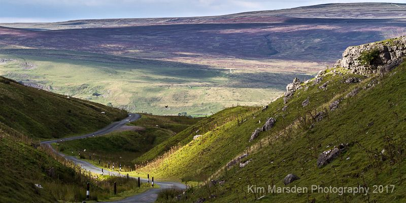 Shade & light overlooking Swaledale from Oxnop Ghyll