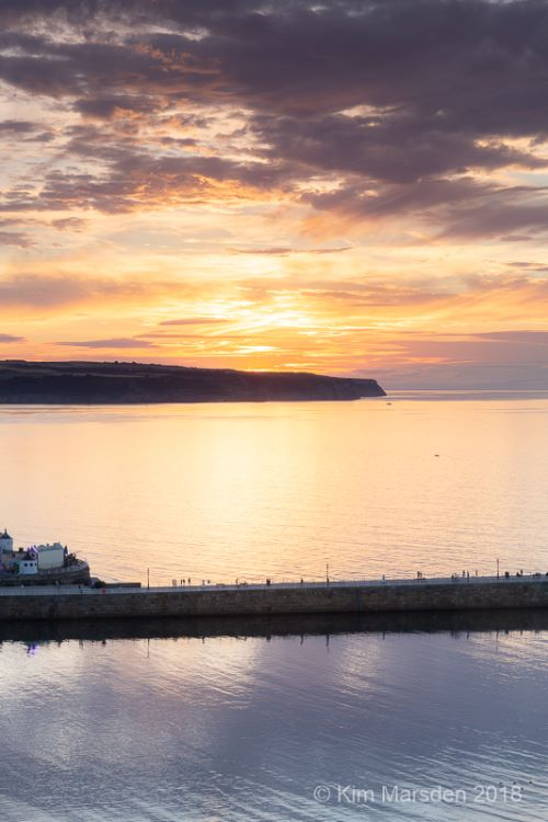 Whitby golden sunset