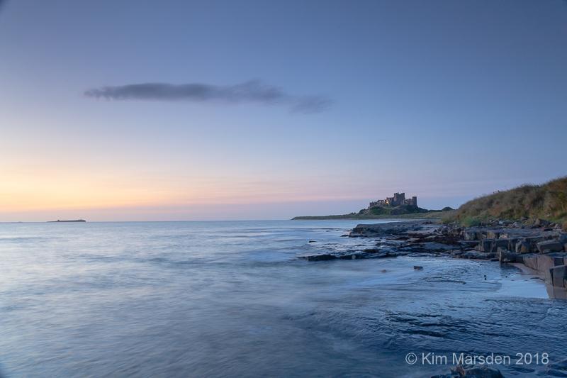 Bamburgh Castle in pre dawn light