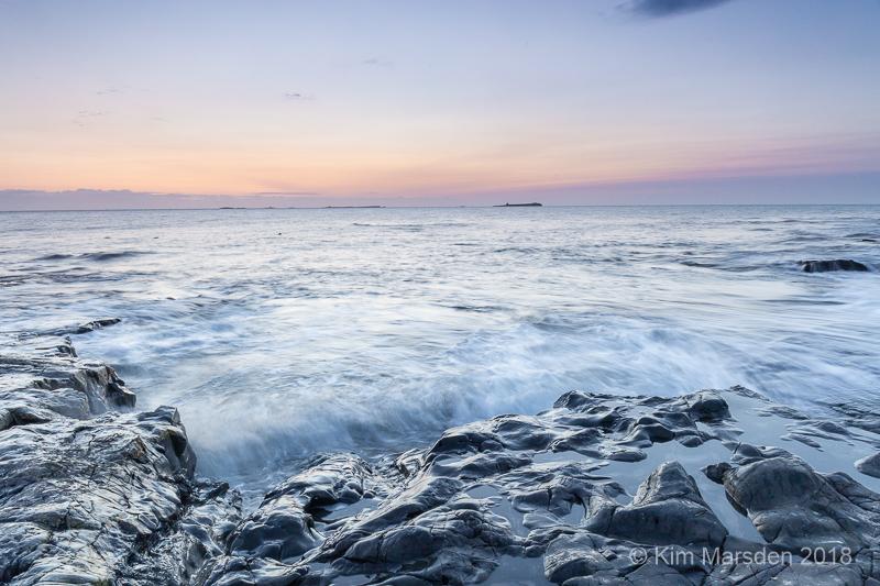 Farne Isles in Pre dawn light
