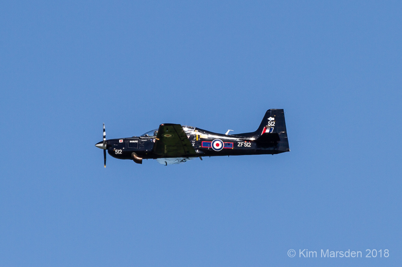 Tucano in flight