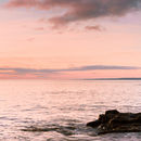 Sunrise over Scarborough bay from Crook Ness Panorama