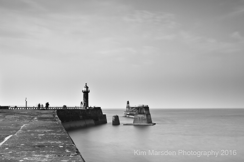 Whitby Pier calm & quiet