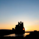 Whitby Abbey sunset 1