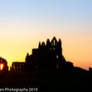 Whitby Abbey sunset 2