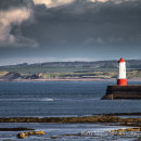 Storm passing Berwick lighthouse