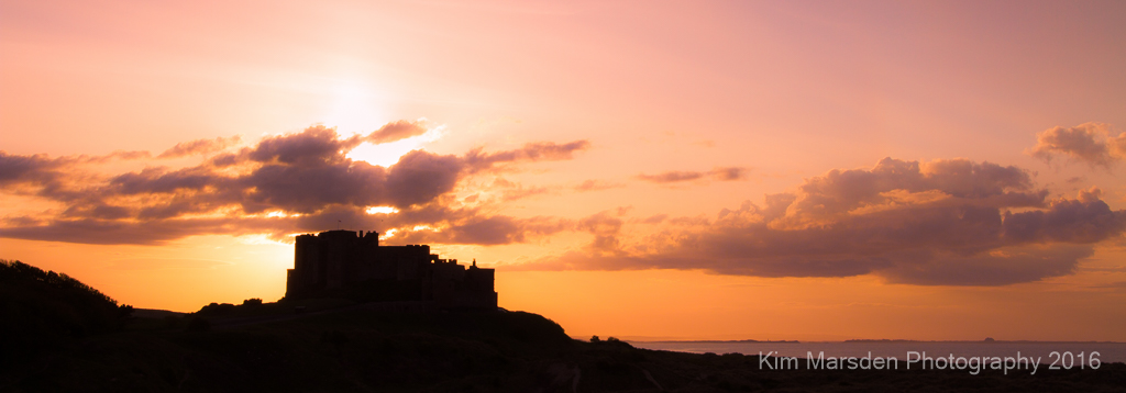 Sunset over Bamburgh Castle