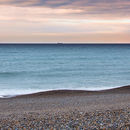 Sunset over North Norfolk beach panorama