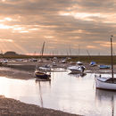 Sunset over Burnham Overy Staithe Panorama2