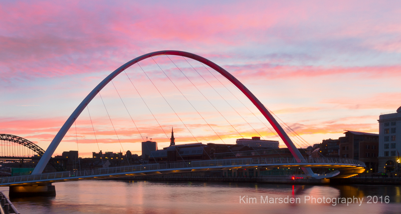 Gateshead Millenium Bridge at Sunset