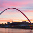 Gateshead Millenium Bridge at Sunset