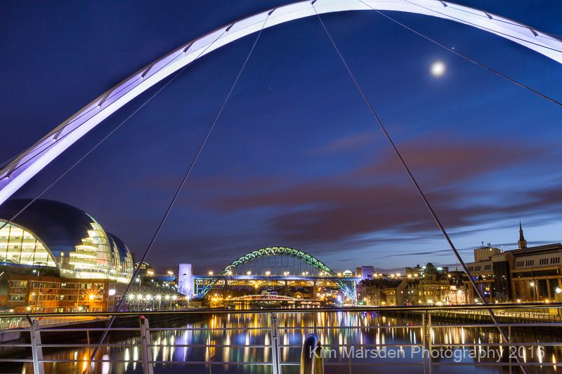 River Tyne moonlight