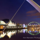 The Sage Gateshead from Millennium Bridge at night