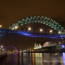 River Tyne & bridges at night