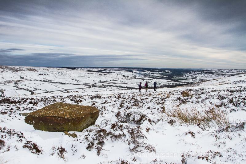 Braving the snow - Rosedale