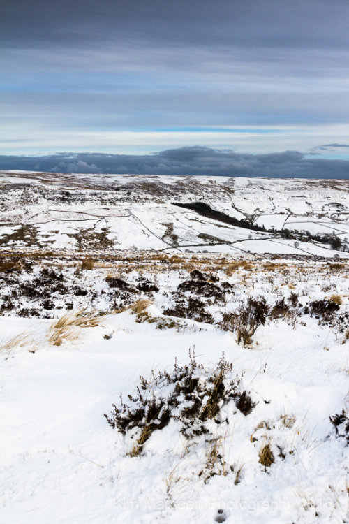 Snowy Rosedale looking towards Gill Beck over the far side of the valley
