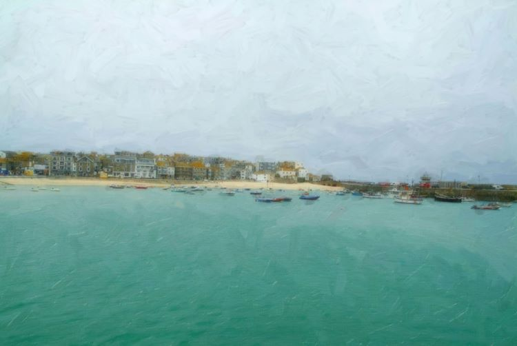 St Ives in the rain.