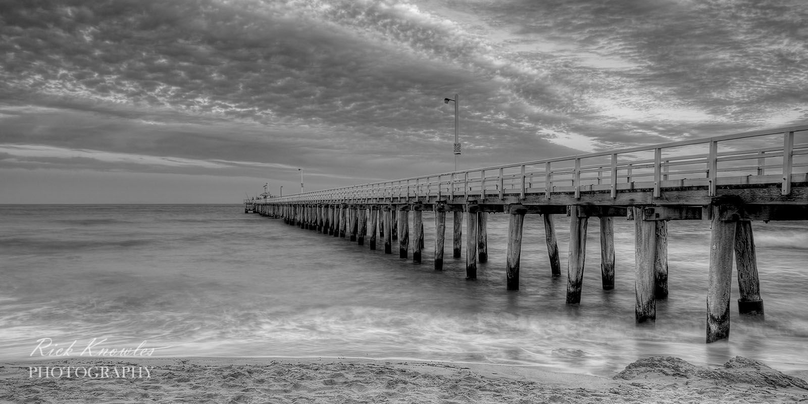 Point Lonsdale Pier, Black and White.
