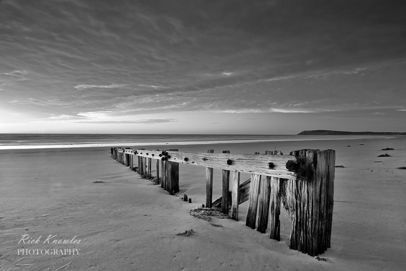 Raafs Beach, black and white.