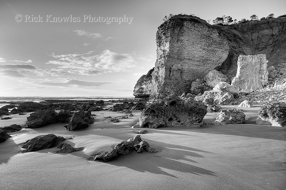 Low Tide, Point Addis (Black and White)