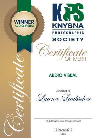 Knysna Photographic Society 2019 Photo Certificates 24